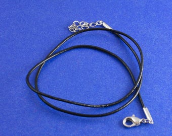"1 or 5 pcs - Black Leather Choker Necklace, Leather Wrap Bracelet, 45.5cm (17-7/8"") long- BKL-B0084576"