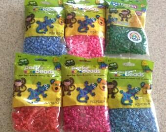 Lot of 6 Perler 1000 Bead Bags