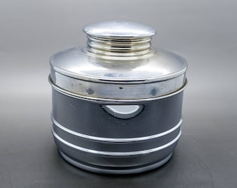Chase Chrome Deco Tobacco Humidor Canister Estate Piece