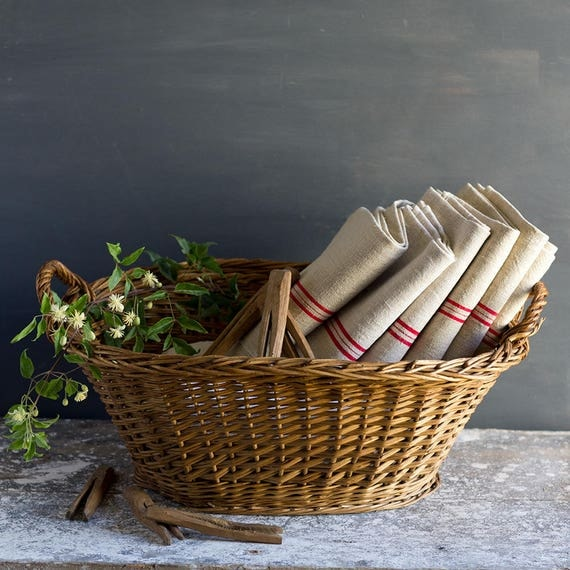 Classic French Handled Laundry Basket