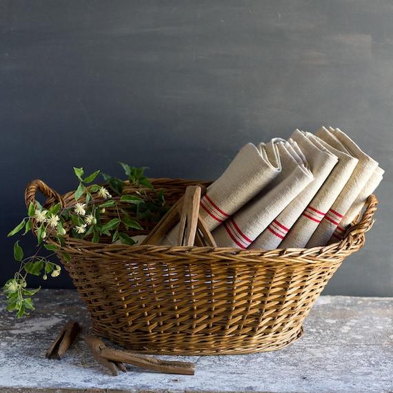 Classic French Handled Laundry Basket
