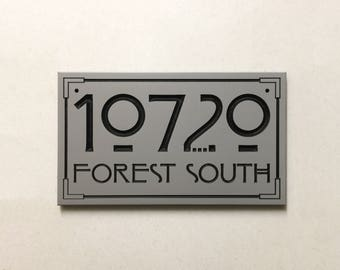 Arts and Crafts Style Address Sign