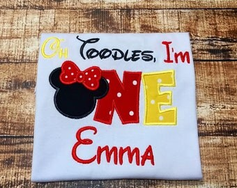 Oh Toodles Minnie Birthday shirt