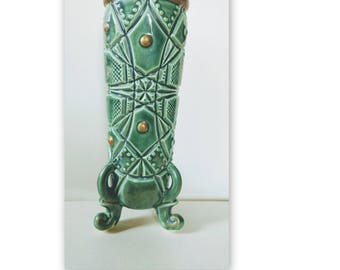 Vintage Voagco Vase // Vintage Tiki Vase // Japan // Unique Vintage Vase //