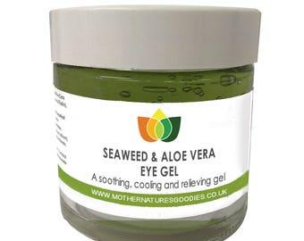 Seaweed & Aloe Vera Eye Gel Soothes. Moisturises  Make Up Remover Multiple Sizes