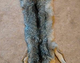 Tanned GRAY FOX Pelt with Feet