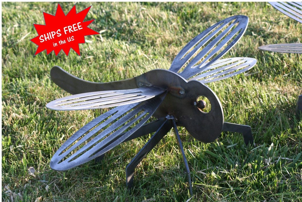 Giant Metal Dragonfly Rustic Dragonfly Dragonfly Sculpture