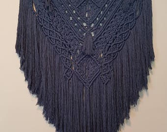 Indigo Nights Macrame Wall Hanging