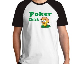 Poker chick Raglan T-Shirt