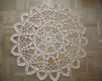 Large crochet doily lace