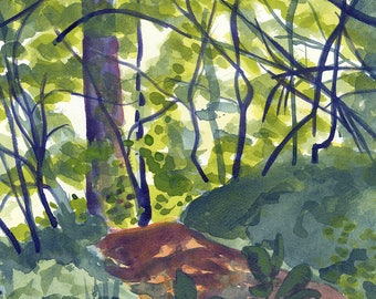 White Pine Trail, Original Forest Painting