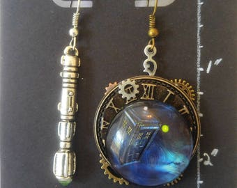 Dr Who Steampunk Inspired Earrings