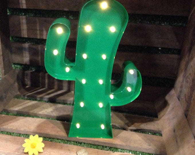 12 Inch Metal Marquee Light - CACTUS