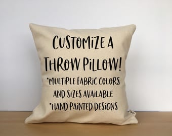 Custom pillow, custom pillow cover, custom throw pillow, personalized pillow, housewarming gift, custom gift, birthday gift, wedding gift