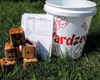 Yardzee, Farkle, Lawn Dice, Yard Game, Yard dice, Lawn Game, Wedding Reception Game, Outdoor Wedding, family game, outdoor game, Family fun