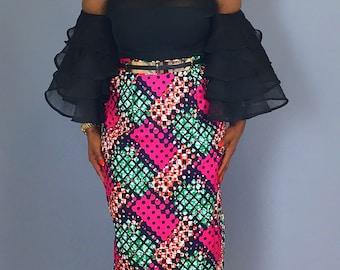African print pencil skirt,African clothing,peydress,robe wax,skirts,midi skirts,
