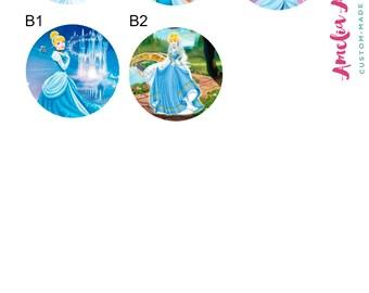cinderella - disney - princess retractable id badge holder- name badge clip - retractable badge reel - fairy godmother - Disney princess
