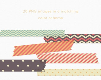 Washi clipart, washi tape clipart, discount clipart, digital washi, tape clipart, washi graphics, tape graphics, chevron washi clipart,