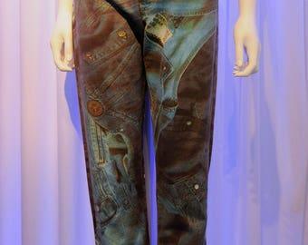 MOSCHINO Jeans Denim on Denim Photorealistic print Jeans