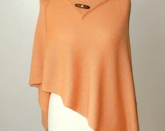 Pale Orange orange poncho | etsy