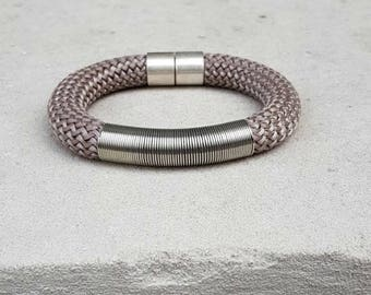 Grey bracelet - bracelet for women - women jewelry - gift for her - gift for woman - christmas gift - gift for women - gifts