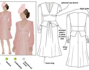 Style Arc Sewing Pattern - Peony Woven Dress - Sizes 22, 24, 26 - Dress PDF Sewing Pattern