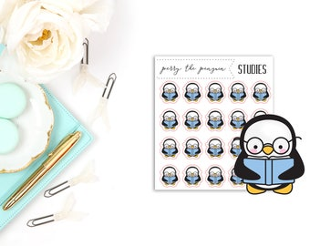 Perry the Penguin Studies   Character Stickers