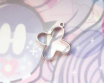 2 pcs(or more!) Silver Medical Cross Resin Bezel - Open Back Resin Charm Pendant