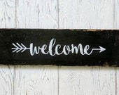 Welcome Sign | Black with...