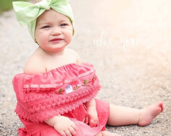 KEY LIME Gorgeous Wrap- headwrap; fabric head wrap; green head wrap; boho; newborn headband; baby headband; toddler headband