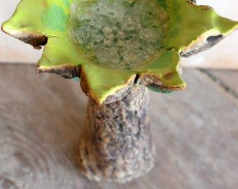 Ceramic sculpture of OOAK art Sculpture jewelry tree