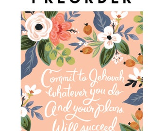 PREORDER - Commit to Jehovah Whatever You Do and Your Plans Will Succeed - Pioneer Planner JW, Jehovah's Witnesses, JW Gift, Pioneer School
