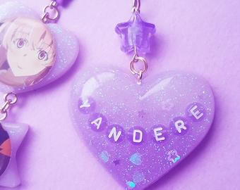 Yandere Anime Japanese Handmade Resin Keychain - Custom
