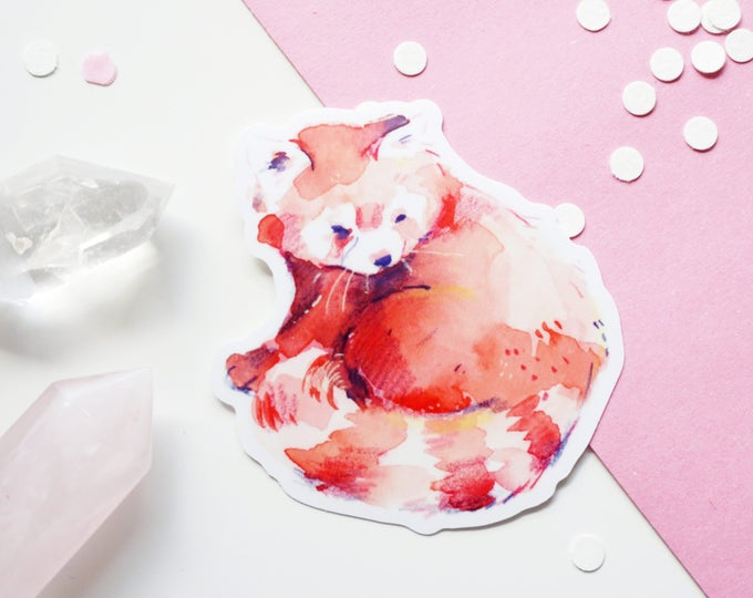 Red Panda Vinyl Sticker