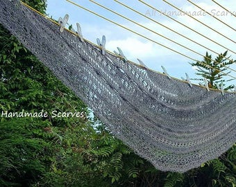 Grey All Seasons Scarf/Shawl