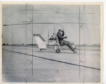A frame  plane airplane helicopter vintage photo