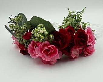 Flower Crown. BRIDAL Flower Crown. Flower Wreath. Bridal Hair Wreath.