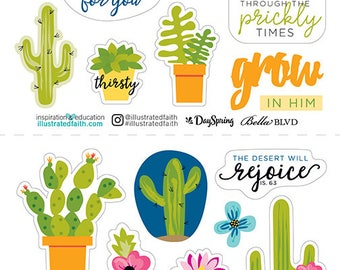Illustrated Faith Prickly Times BIble Journaling Stickers
