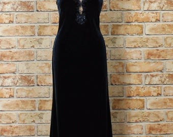 Vintage Dress Gown 90s Retro Victorian Style Evening Wedding Party Sexy UK 12...US 8