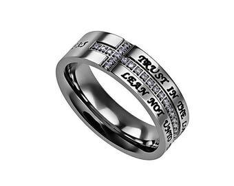 """Crescent Ring """"Trust"""""""