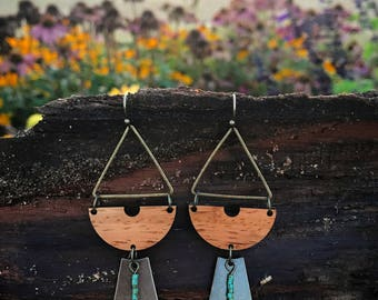Wooden Earrings - Padauk Smiles
