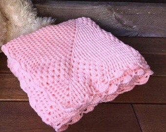 Crochet baby blanket throw afghan peach pink throw handmade newborn baby blanket pram cot crib bassinet baby bedding gift Etsy Australia