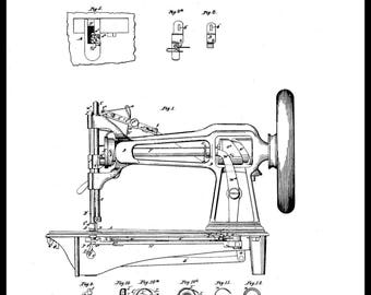 I M Singer Sewing machine Patent #61270 dated January 15, 1867.