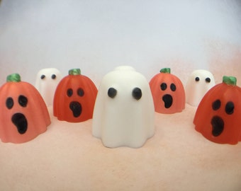 Ghost Soap - Pumpkin Soap - Halloween Party Favors - October Birthday Favors - Halloween Soap - Novelty Soap - Shea Butter Soap - Fall Soap