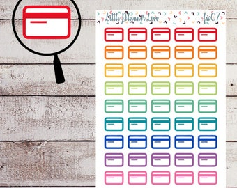 Credit Card Multi Color Planner Stickers for all Planners