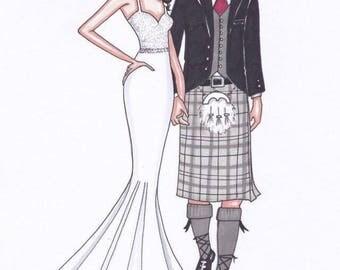 Double Custom Illustration