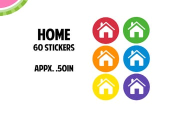 Home/Rent/Mortgage Utility Icon Stickers   60 Kiss Cut Stickers   IC050