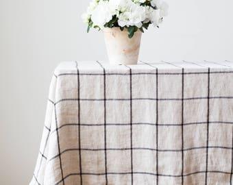 Tablecloth rectangle, Plaid tablecloth, Table overlay, Table cloth party, Tablecloth farmhouse, Country table decor, Organic tablecloth