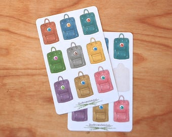 ADVENTURE PACK STICKERS 9 Backpack Stickers Travel Stickers Adventure Stickers Road Trip Stickers Planner Stickers Back to School Stickers