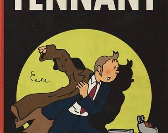Doctor Who David Tennant Tin Tin Parody A4 A3 A2 Poster Print
